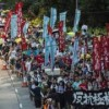 Hong Kong protest: Thousands march for jailed activists