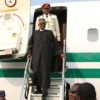 Nigerian President Muhammadu Buhari returns from UK