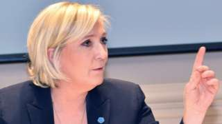 National Front leader Marine Le Pen. Photo: 22 March 2017